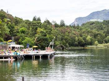 Lido am großen Montiggler See