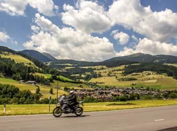 Motorradfahren im Sarntal