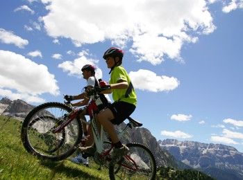 Mountain bike in Val Gardena