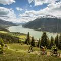 Mountainbiken am Reschensee
