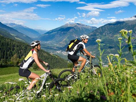 Mountainbiken in Algund