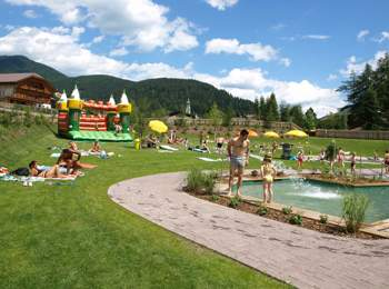 Natural bathing pond in Toblach