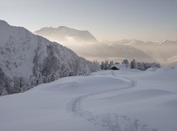 Paesaggio invernale nello Zillertal