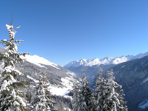Panorama invernale a Paznaun-Kappl