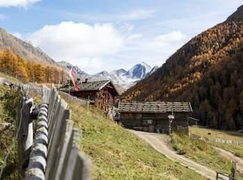 Pfossental valley in autumn