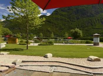 Piscina per bambini nella piscina naturale a Gargazzone