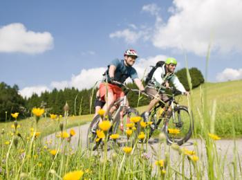 Radfahren und Mountainbiken in den Bergen