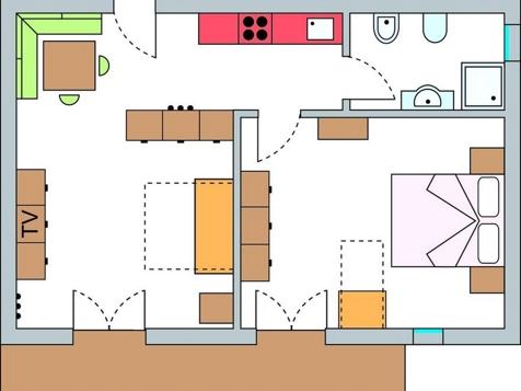 Zweiraumappartement Nr. 6 – 52 m² im 1. Stock-8