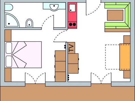 Zweiraumappartement Nr. 7 – 45 m² im 1. Stock-8