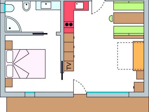 Zweiraumappartement Nr. 8 – 43 m² im 1. Stock-8