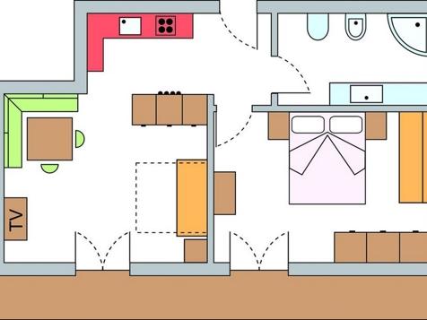 Zweiraumappartement Nr. 9 – 50 m² im 2. Stock-8