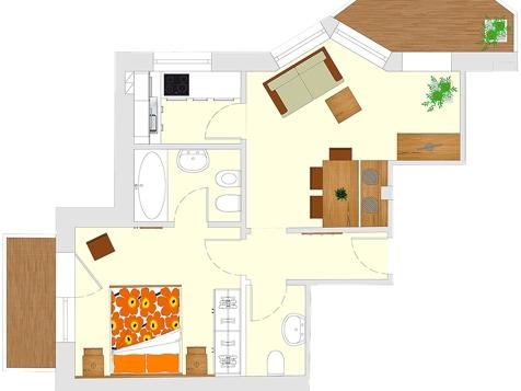 Apartment C2 - 2-3 Personen - 45m²-6