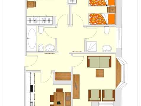 Apartment E - 4-6 Personen - 75m²-8