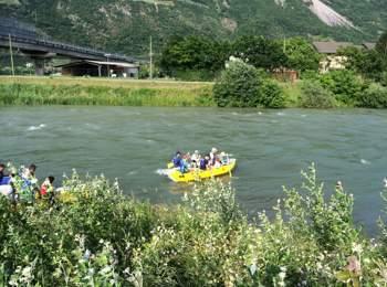 River Boating auf der Etsch