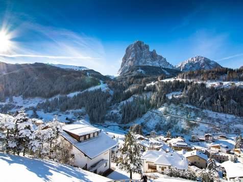 Santa Cristina in Val Gardena d'inverno