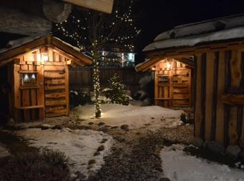 Sauna nelle casette in inverno
