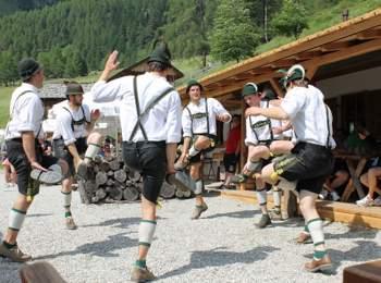 """Schuhplatteln"" tradition in Südtirol"