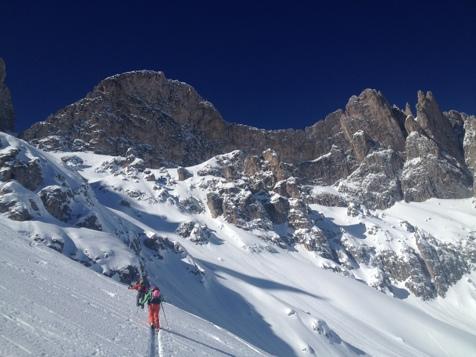 Sci alpinismo nei pressi di San Martino in Badia