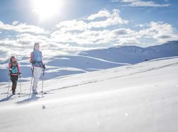 Ski tour at Mt. Kronplatz holiday region