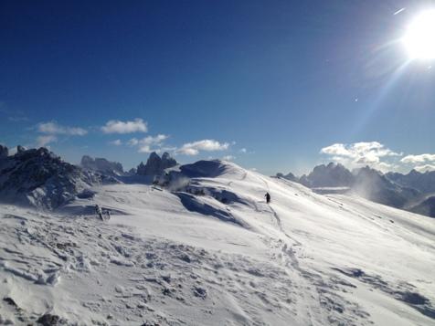 Ski touring in Prags