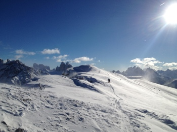 Ski touring in Prags
