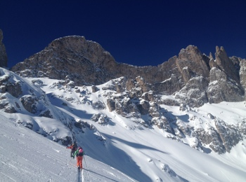 Ski touring in St. Martin in Thurn