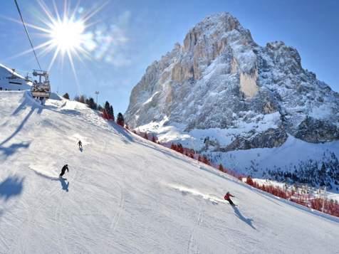 Skifahren in Wolkenstein in Gröden