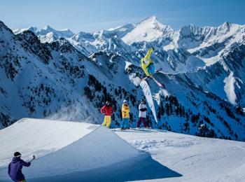 Skiing area at Ahrntal/Valle Aurina - the Klausberg