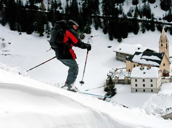 Skiing in Gries