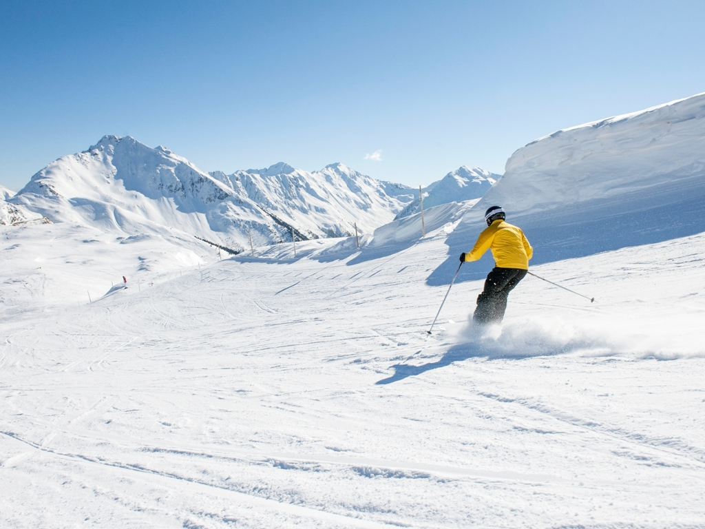 image: Skiing in spring