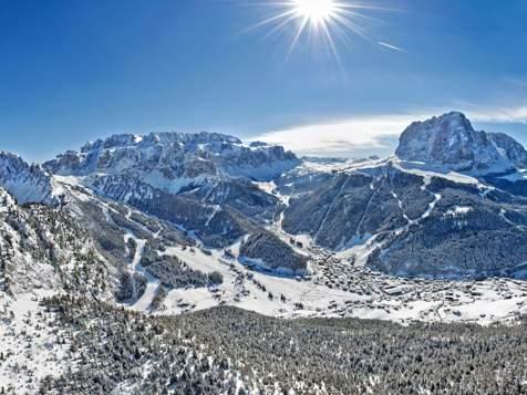 Skiing in Wolkenstein in Gröden
