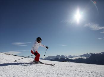 Skiing on Ritten