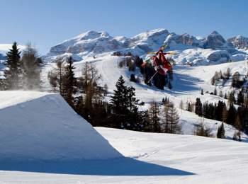 Snow park in Alta Badia