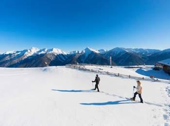 Snow-shoe hiking in Ulten Valley
