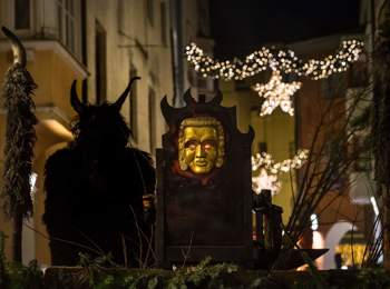 St. Nicholas and krampus parade in Brixen