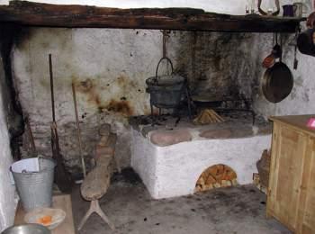 Stanza della segheria nella casa del parco naturale Sciliar-Catinaccio
