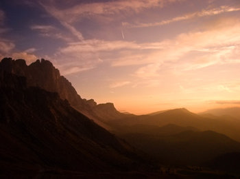 Sunrise in the South Tyrolean mountains