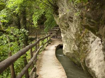 "Traditional ""Waalweg"" path in South Tyrol"