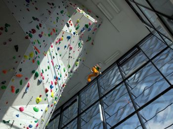 Vertikale Kletterhalle