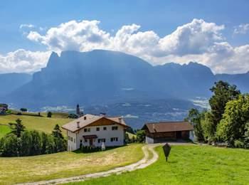 View from Ritten to Mt. Schlern