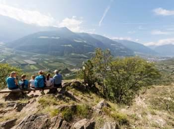 """View from """"Tscharser Waalweg"""""""