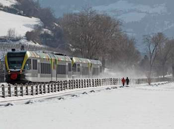 Vinschgau Railway in winter