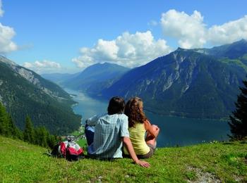 Vista del lago Achensee