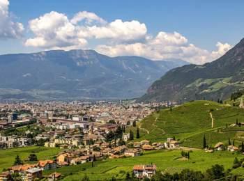 Vista su Bolzano e Santa Maddalena