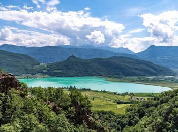 Vista sul Lago di Caldaro