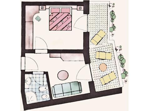 Opal - Familienzimmer mit Balkon-4