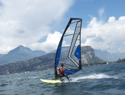 Windurfing on Lake Garda