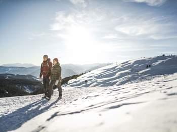 Winter hiking in Meran 2000